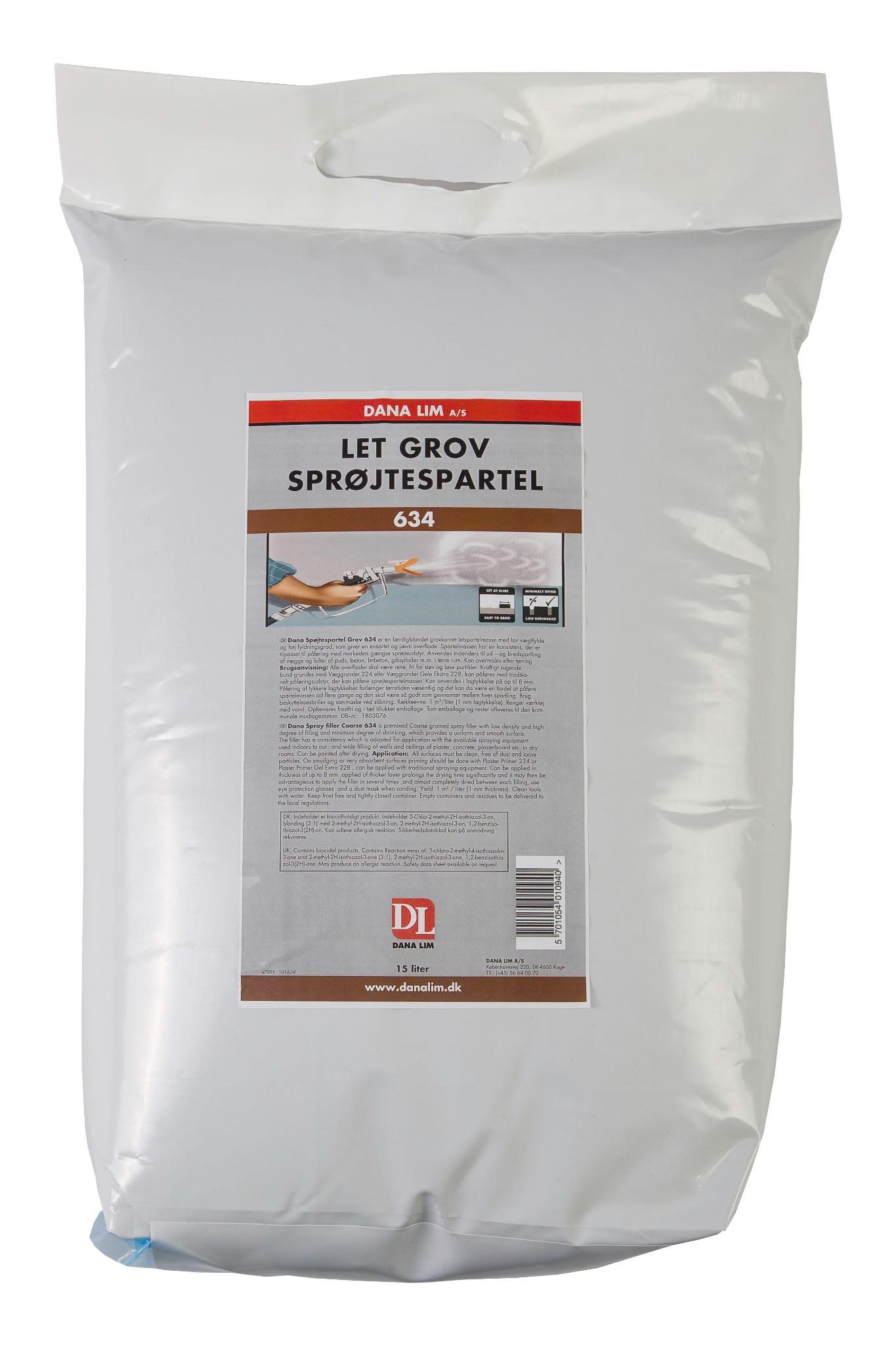Low Density Coarse Spraying Filler 634