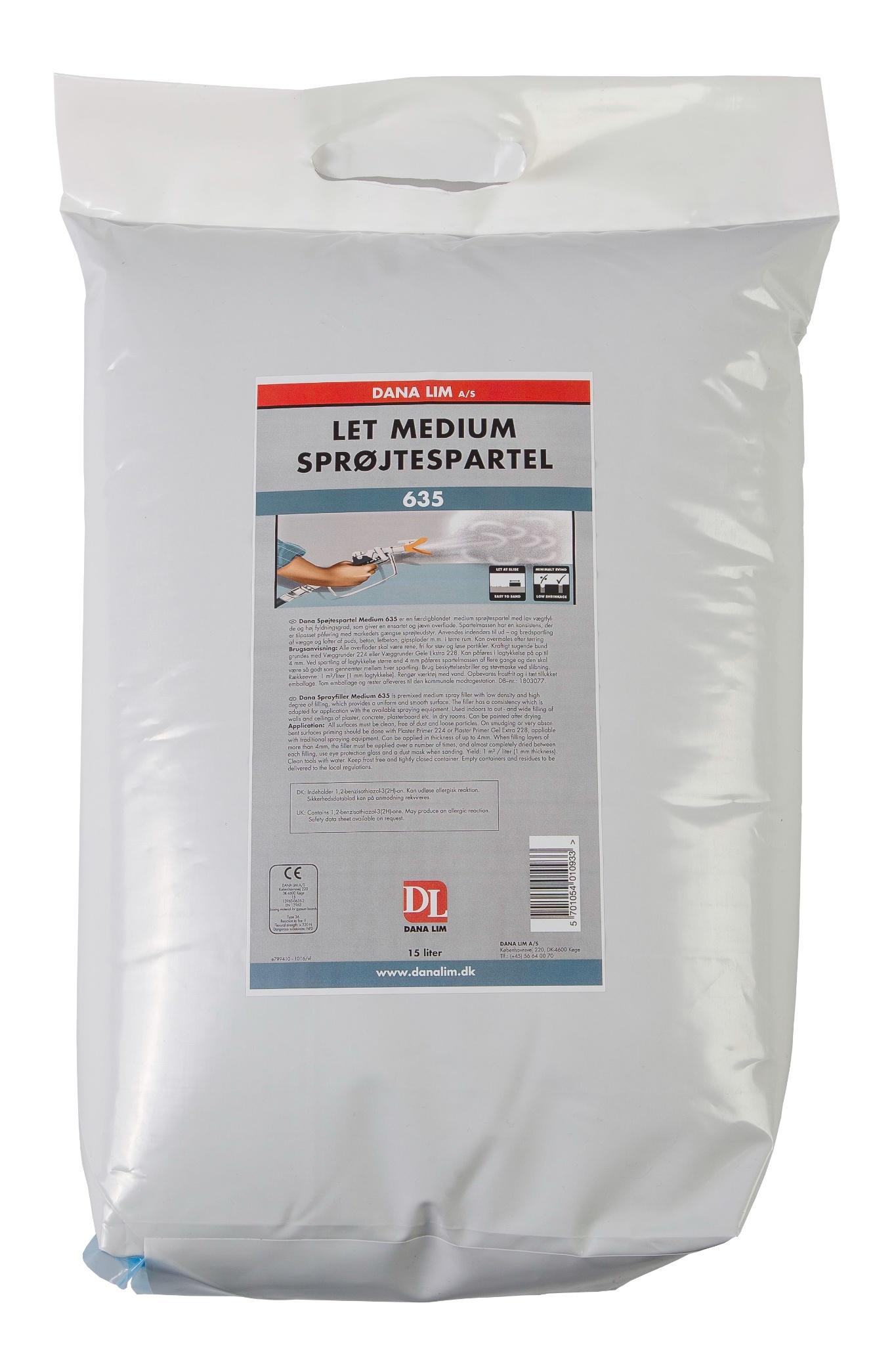 Low Density Medium Spraying Filler 635