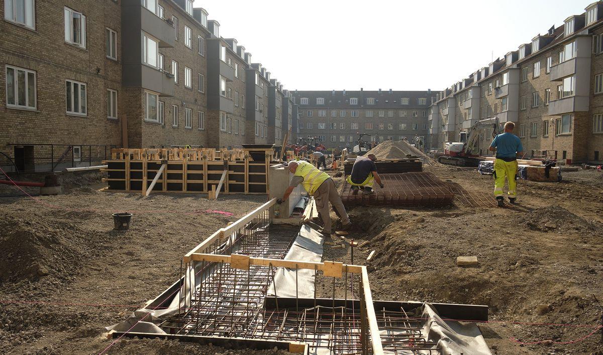 Første betonstøbning i Danmark med tilslag af 100 % genbrugsmaterialer