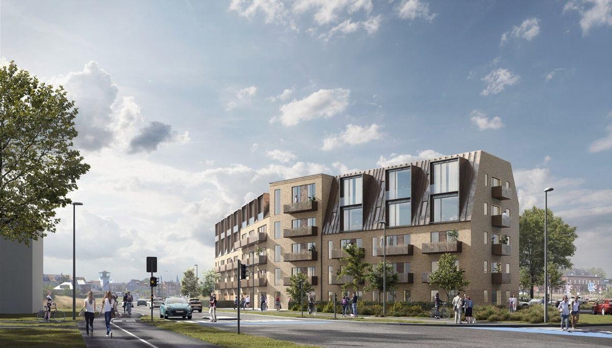 Moderne byport til Nyborg af Mangor & Nagel