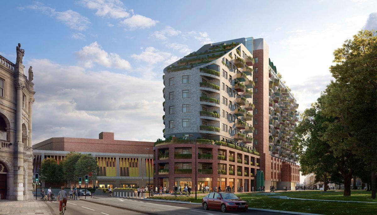 Adaptiv genbrug på renovering af 12-etagers kontorbygning i Kent