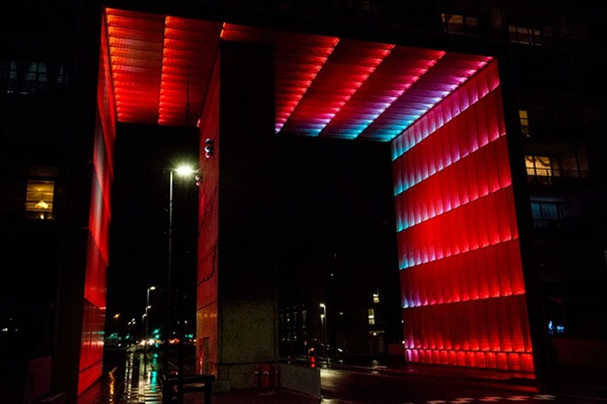 SGM Lights VPL oplyser den Gyldne Port i Gellerup