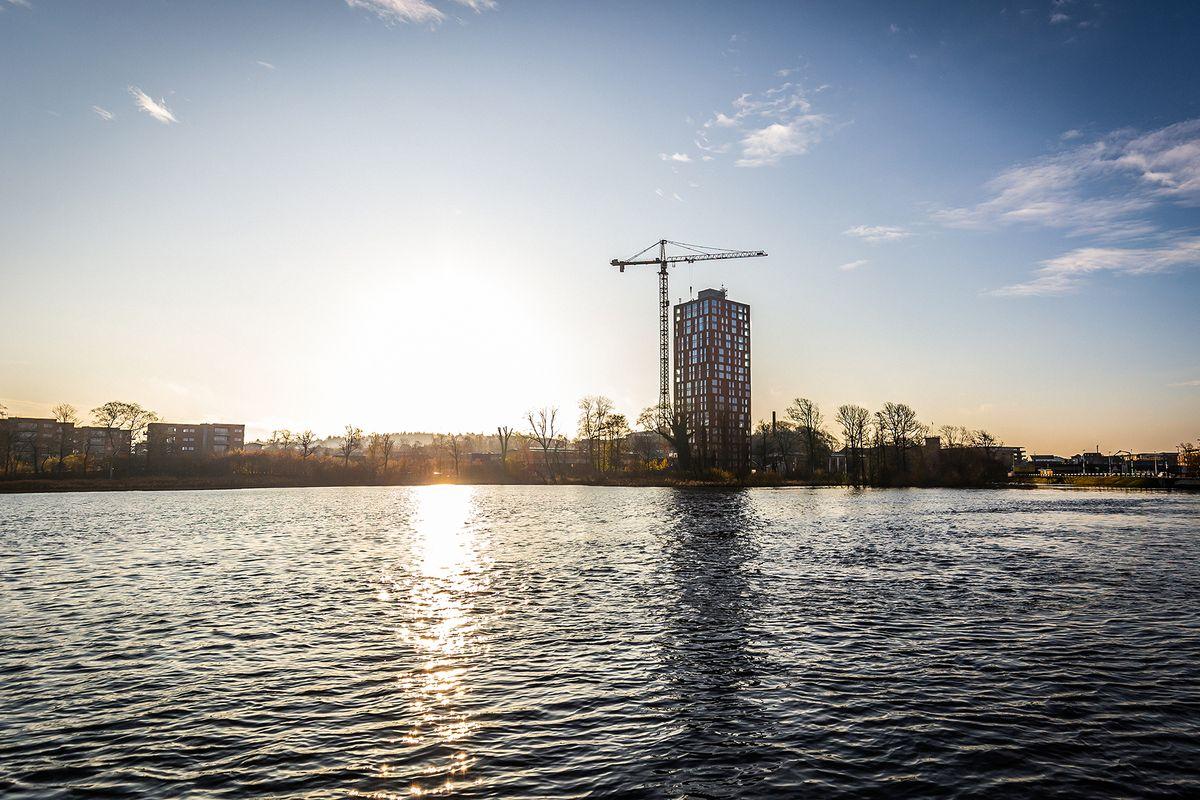 Papirtårnet fra Aarstiderne Arkitekter er nyt vartegn for Silkeborg