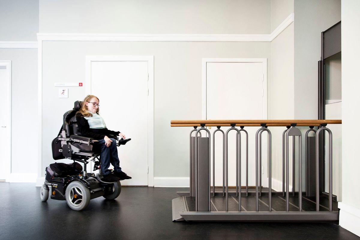 FlexStep i Københavns Byret: Trappe og lift i samme løsning