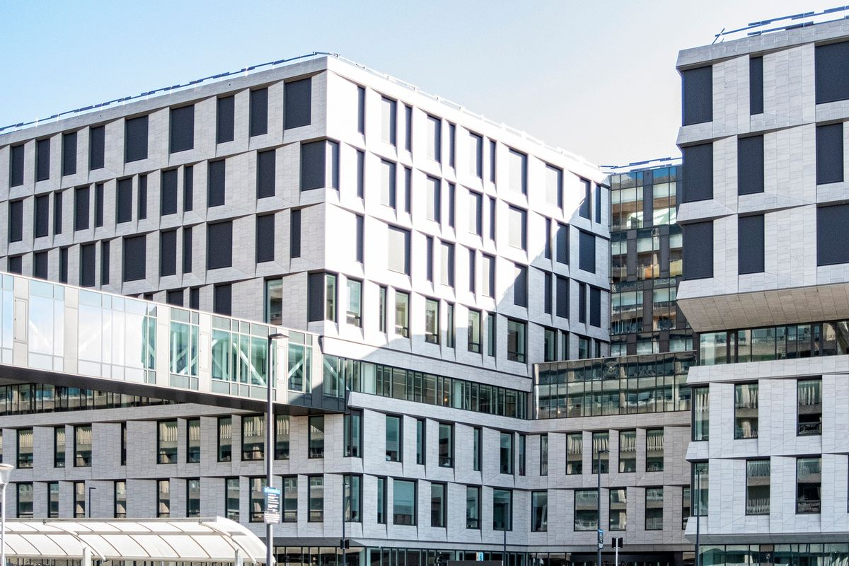En kompromisløs facade på Det Nye Rigshospital