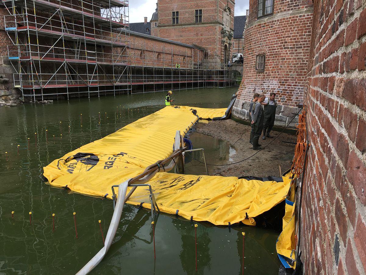 Watergate fra Sækko Presenning er navnet på ny type mobil dæmning