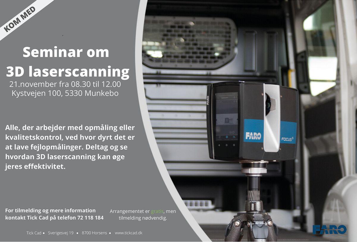 Seminar om 3D laserscanning, 21.november 2019