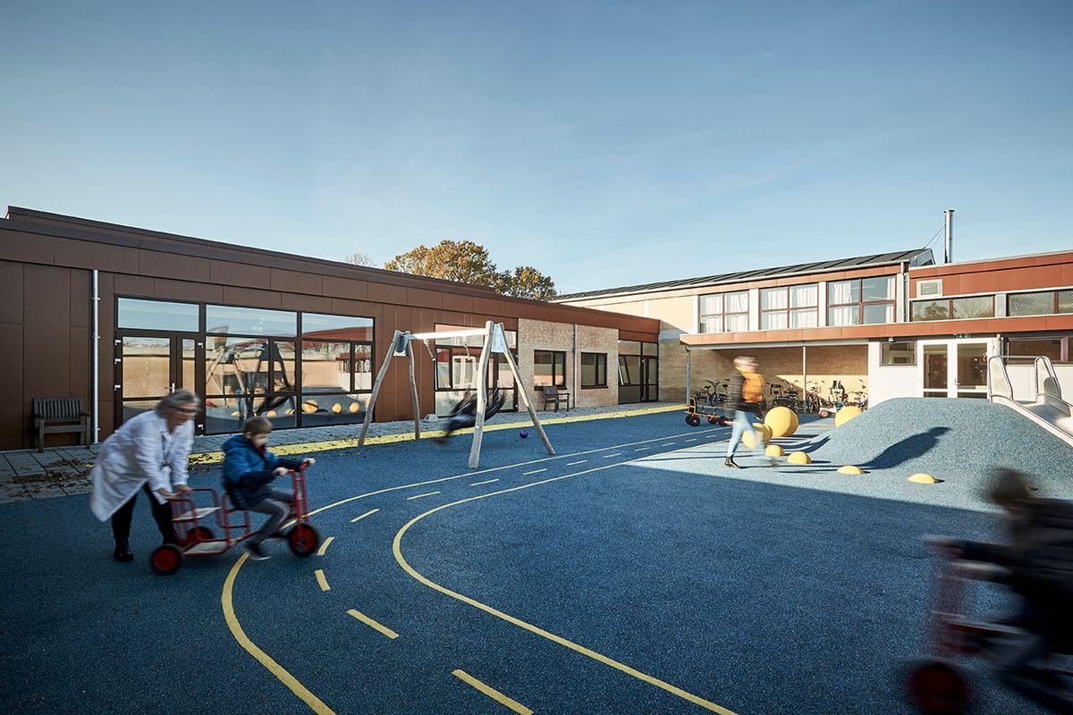 Fjordskolen i Aabenraa samlet og udvidet med terapibad