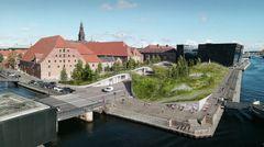 Nyt forslag til byrum ved BLOX: Det Grønne Tæppe