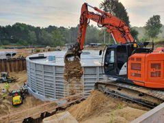 Vigtig milepæl for NCCs regnvandsprojekt, Ålebækken Ruinpark