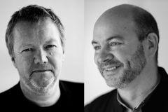 Portræt af Craig Dykers og Kjetil Trædal Thorsens fra Snøhetta
