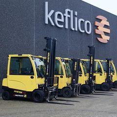 Nye El-trucks på Keflico's 14.000 m2 lager