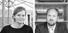 Portræt af Nanna Vöge og Dan Cornelius