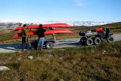 Historisk vejprojekt mellem Sisimiut og Kangerlussuaq undervejs