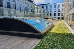 Æstetisk glasarkitektur fra LAMILUX til Falkoner Centret