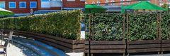 Fleksible plantehegn skaber grønne oaser for erhverv og private
