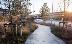Ballerups nye grønne og indbydende banegårdsplads står færdig