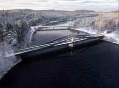 COWI, Dissing+Weitling og Arkitema vinder ny jernbanebro i Sverige