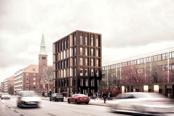 Vilhelm Lauritzen tegner Danmarks største højhus i træ på Østerbrogade