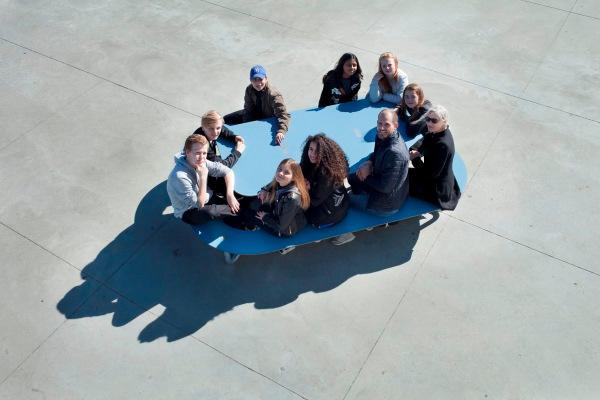Innovative udendørsmøbler med social interaktion