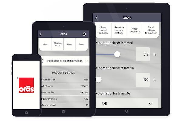 Oras introducerer en mobil app til vedligehold af elektroniske armaturer