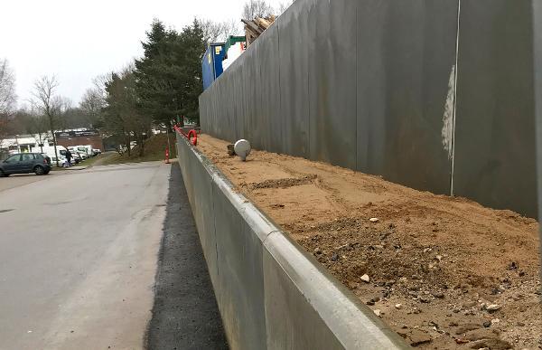 L-elementer til støttemure, køreramper og genbrugspladser
