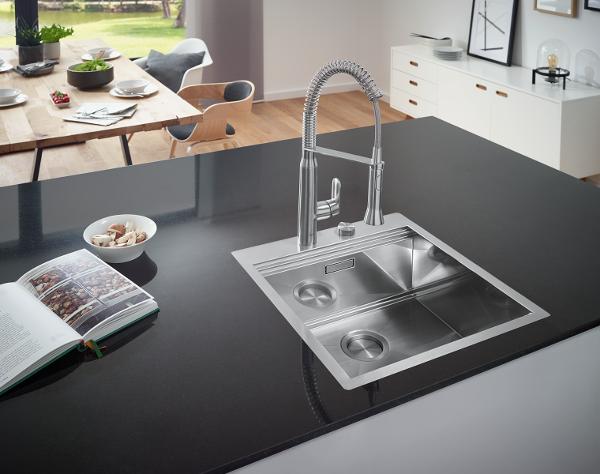 GROHE introducerer nu et bredt sortiment af køkkenvaske der passer elegant til resten af køkkenet