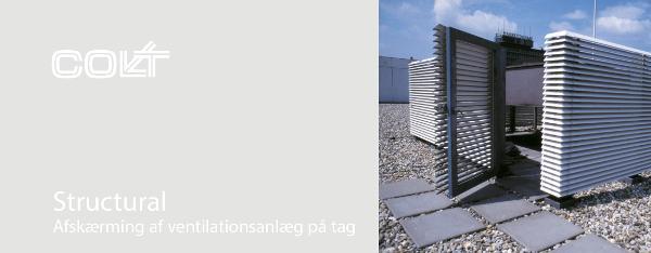 Structural - Afskærming af ventilationsanlæg på tag