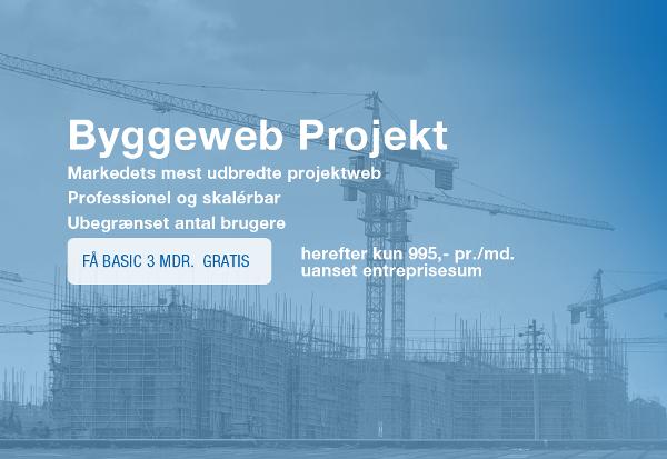 Byggeweb Projekt Basic til dit projekt – de første 3 mdr. gratis