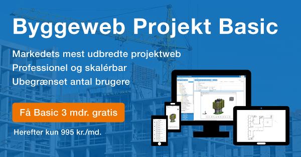Tilbud: Få Byggeweb Projekt Basic gratis i 3 mdr.