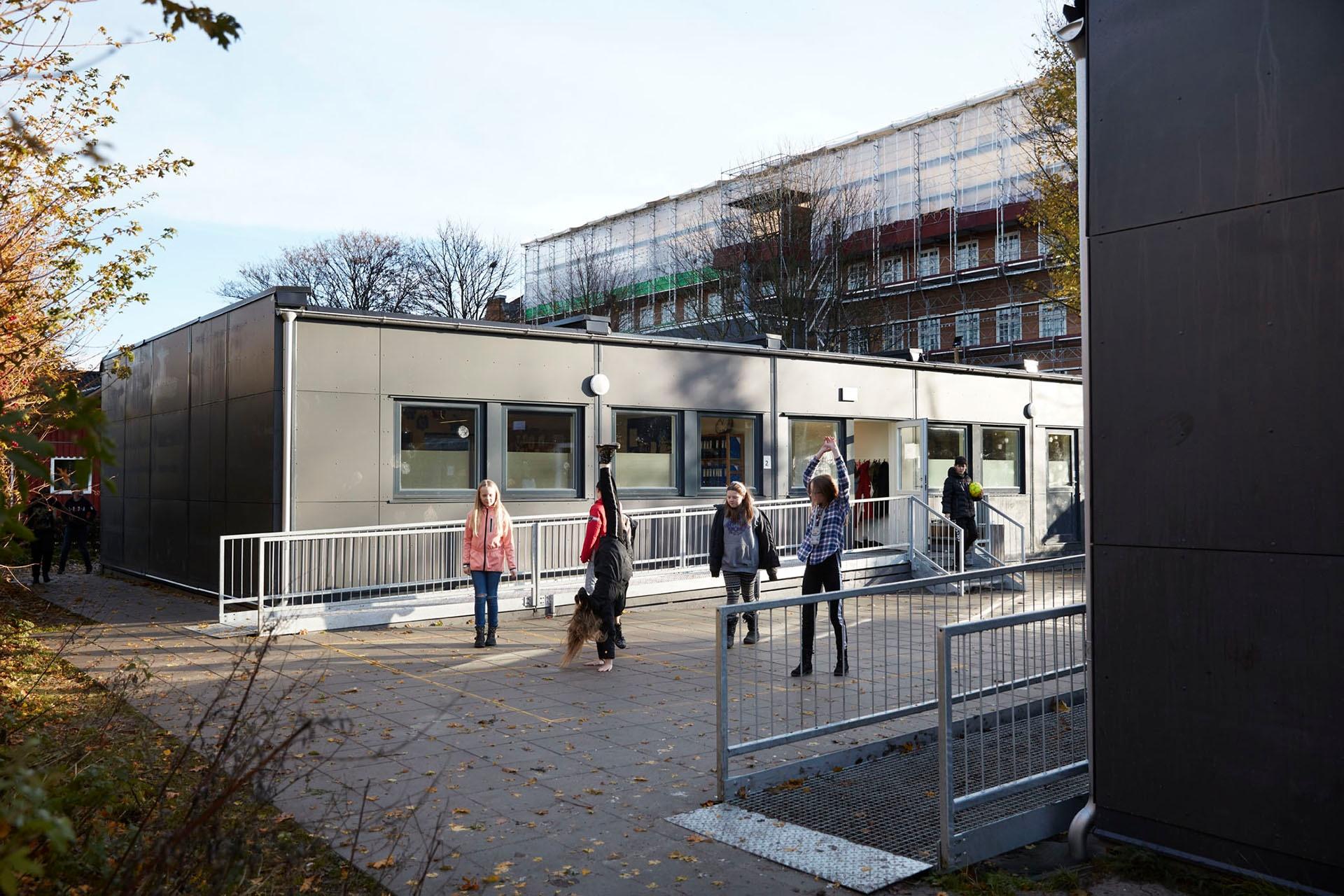Plads til at lære: Gode midlertidige lokaler sikrer skolearbejdet