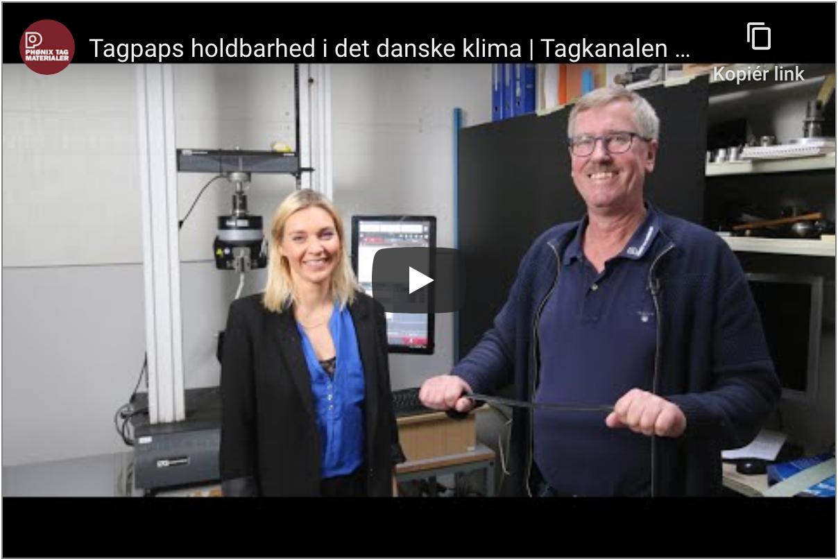 Tagpaps holdbarhed i det danske klima