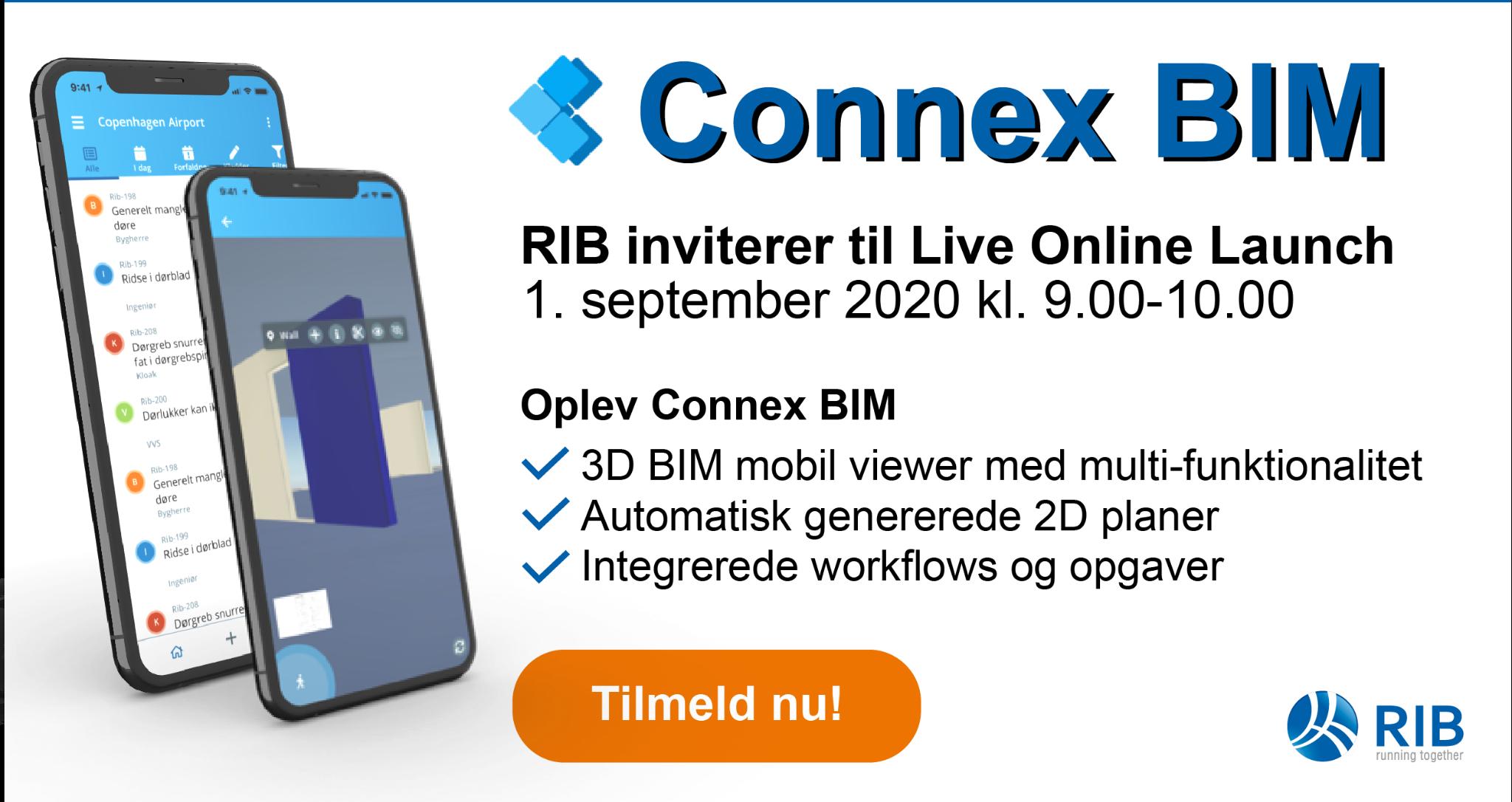 Invitation til Connex BIM - Live Online Launch
