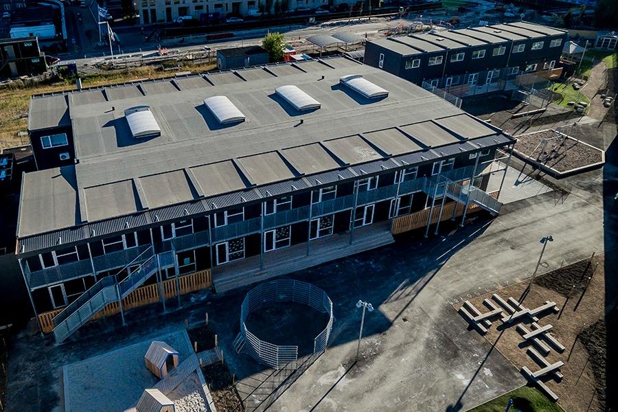 Ajos leverer endnu et nyt skolebyggeri udført i pavilloner
