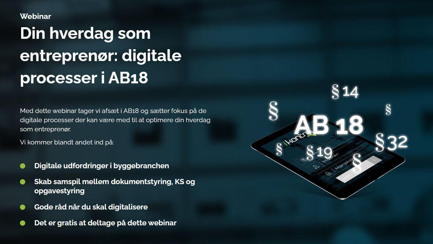 Webinar den 9. september: Digitalisering af AB18