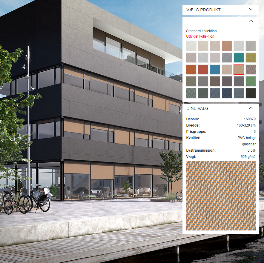 Visualisér solafskærmning i 3D-designeren
