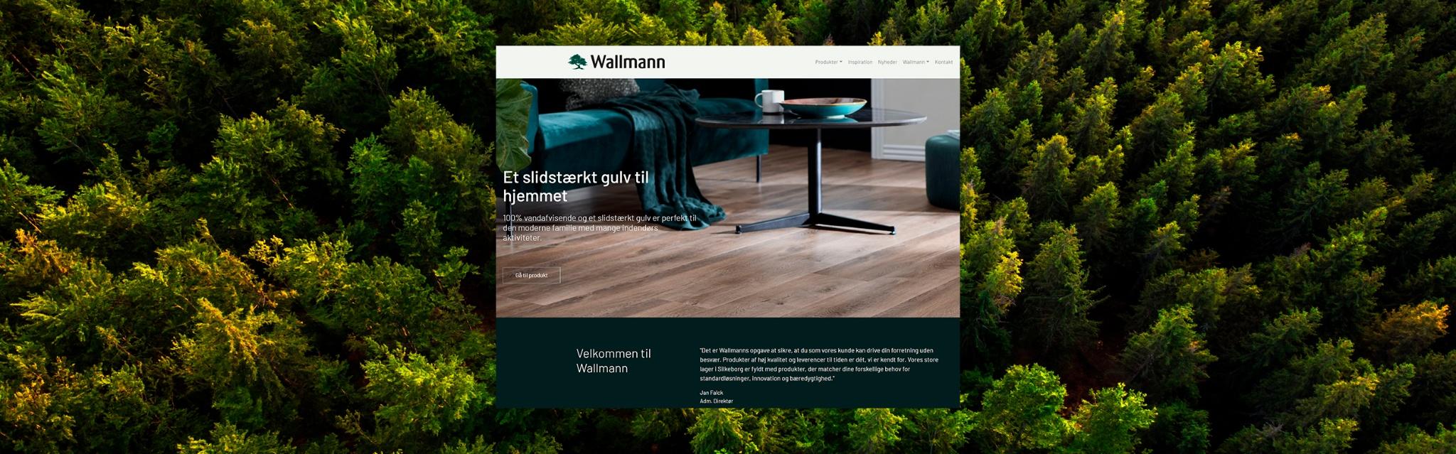 Wallmann får ny hjemmeside og nyt logo
