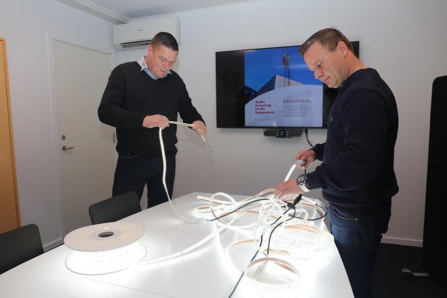 Ajos a/s udruller effektiv LED-belysning på danske byggepladser