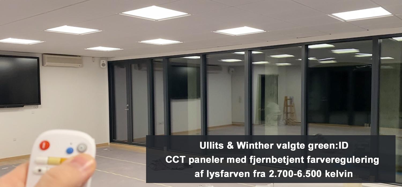 Ullits & Winther valgte en fleksibel belysningsløsning med farveregulering af lysfarven til nyt konference- og kursuslokale