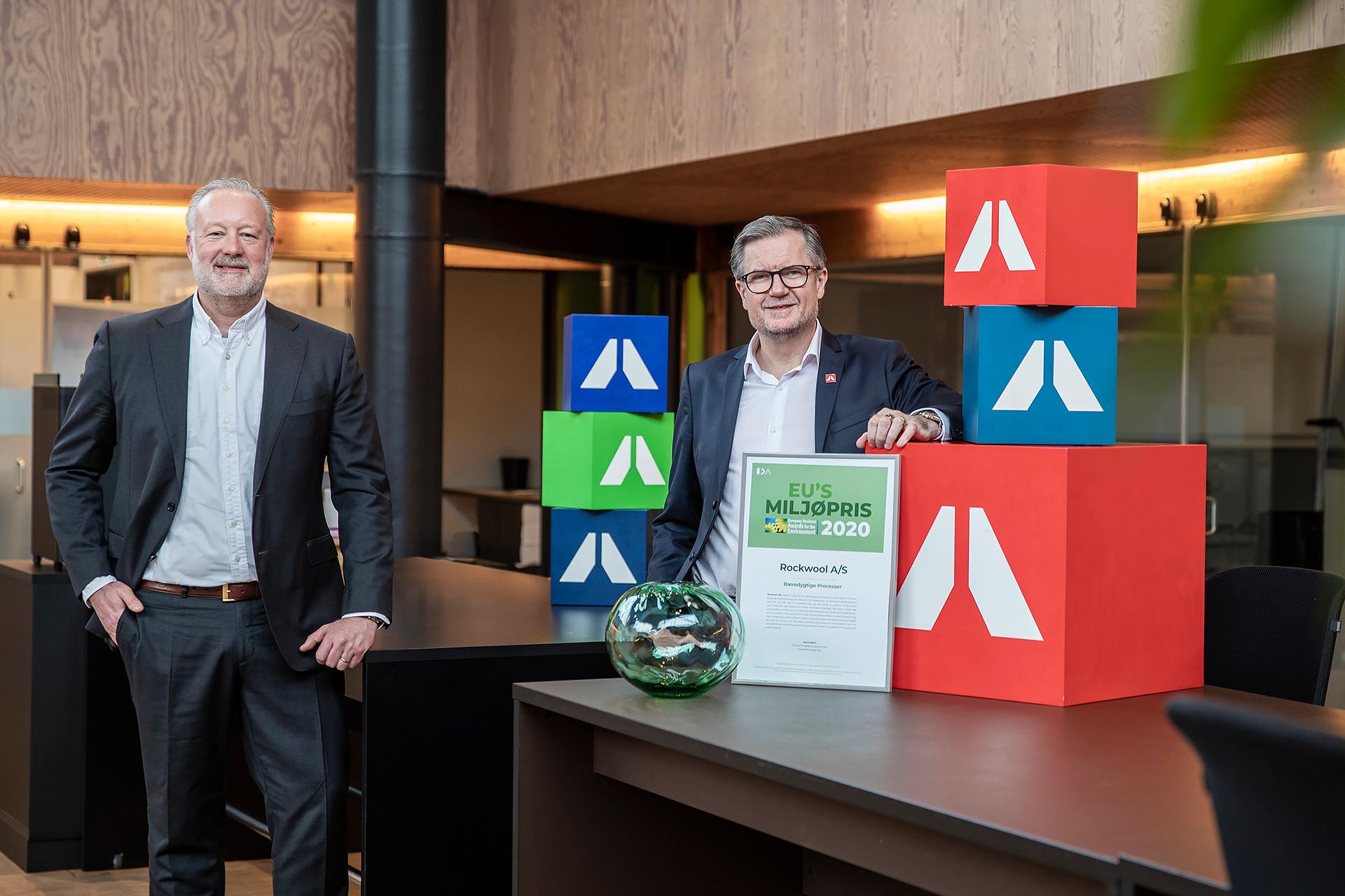 ROCKWOOL får EU's miljøpris i Danmark for bæredygtige produktionsprocesser