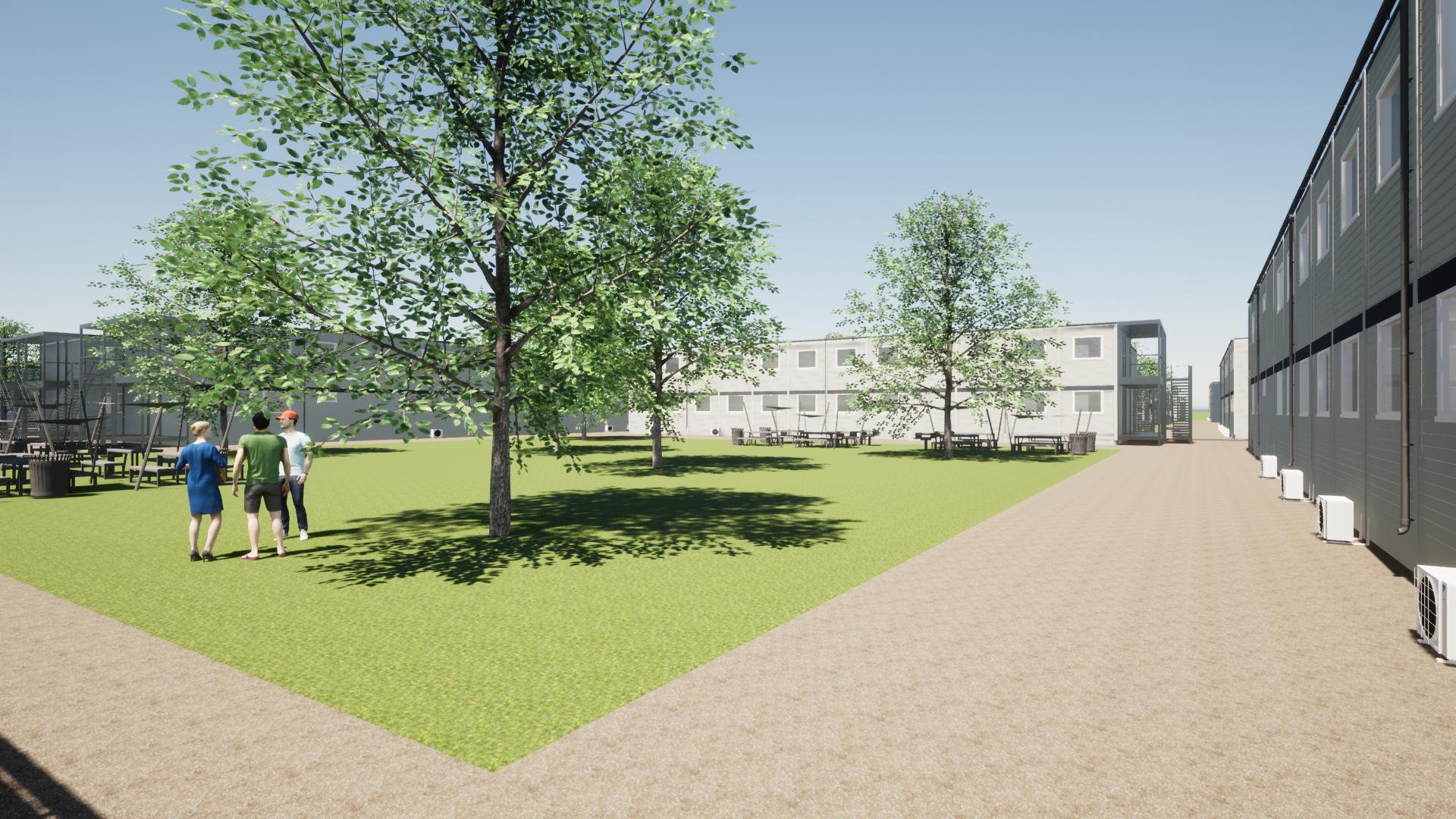 Adapteo valgt til at levere 30.000 m[2 ]pavillonbygninger til Femern Bælts store håndværkerby