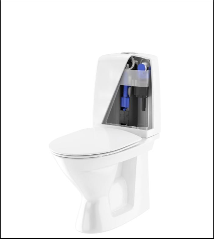 Nyt skyllearmatur til velkendte Ifö-toiletter sikrer færre reservedele og bedre justeringsmuligheder