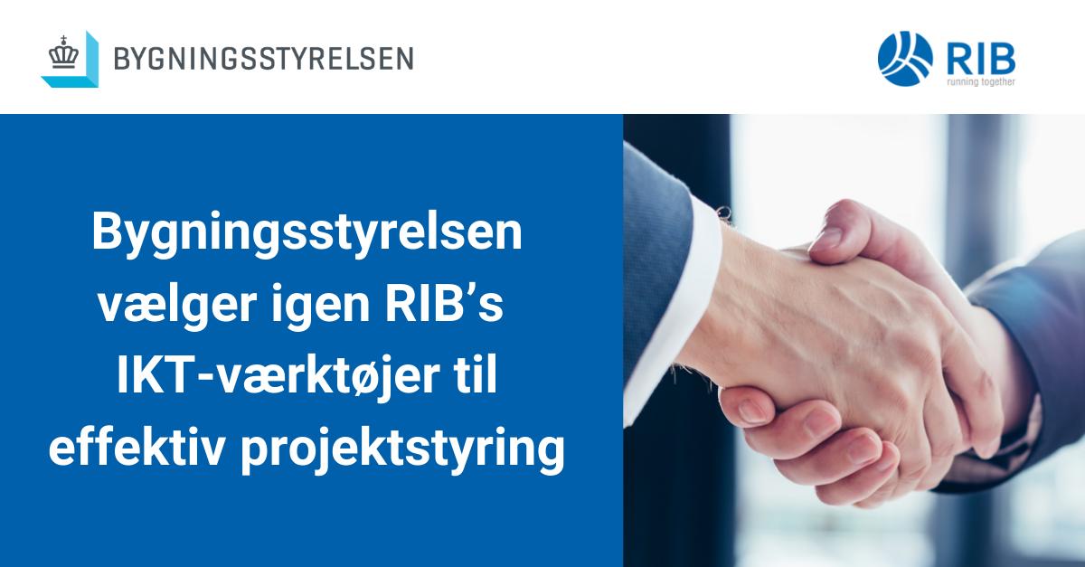 Bygningsstyrelsen vælger igen RIB's IKT-værktøjer til effektiv projektstyring