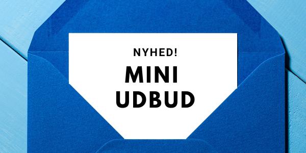 NYHED! Nu kan du også lave Miniudbud i Byggeweb Udbud
