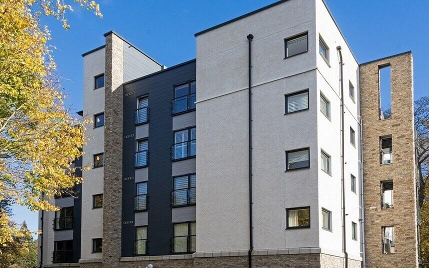 Stonepanel™ – naturstensfacade beklæder en stilfuld bygning i et af de mest eftertragtet områder i Edinburgh