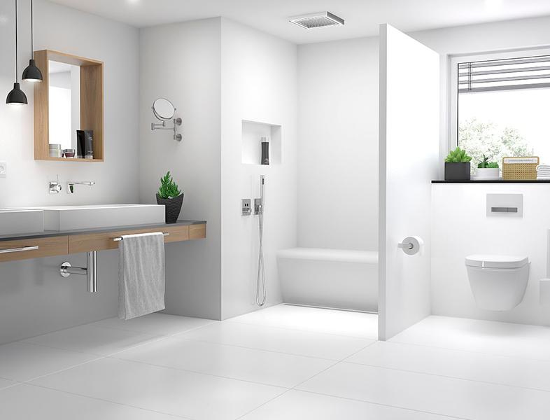 Top wall – storformat design overflader til eksklusivt badeværelsesdesign