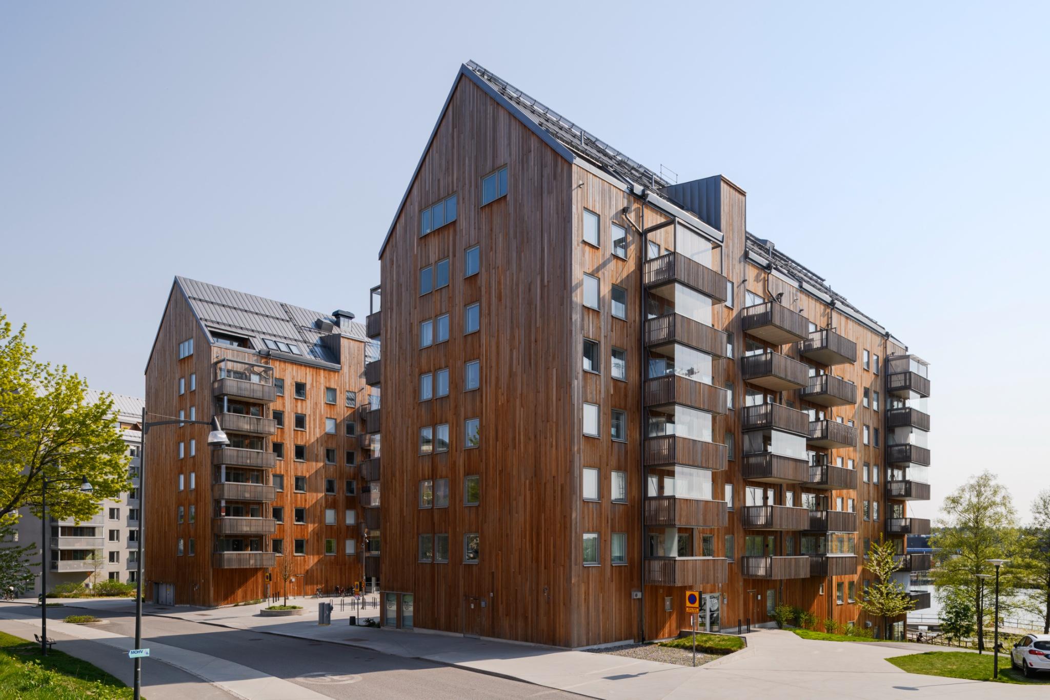 Cedertræ fra Moelven i et innovativt projekt i Sverige