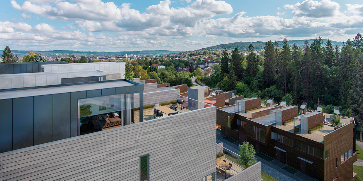 Unikt byggeri er tro mod karakteristisk norsk byggestil, og wedi løser de byggetekniske udfordringer