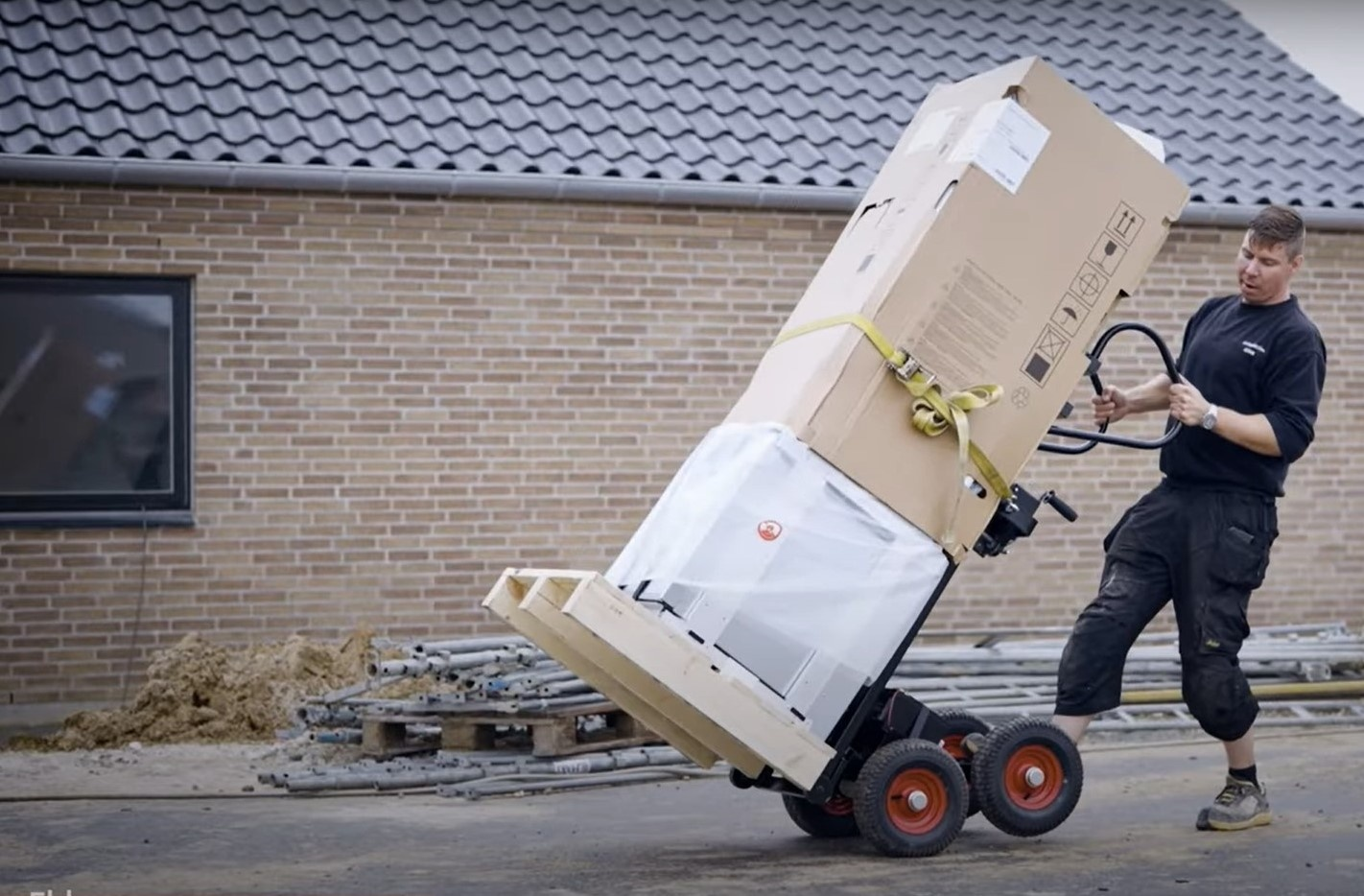 Varmepumpevogn på trinløs el-fremdrift til 200kg