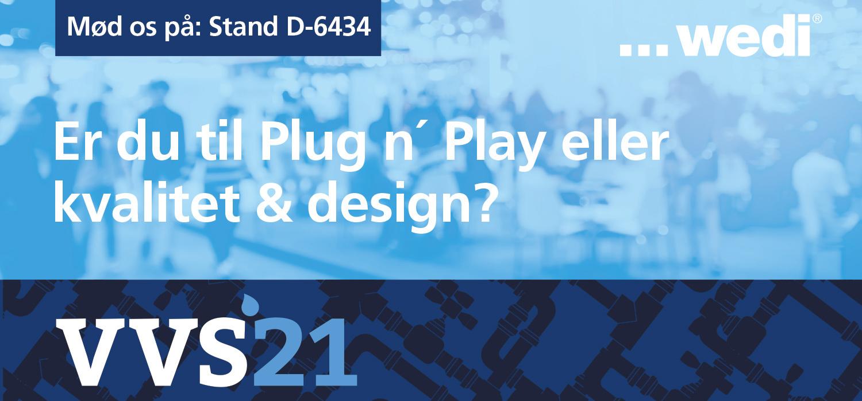 wedi på VVS-Messen – besøg standen og hør om wedis innovative produkter til badeværelsesopbygning